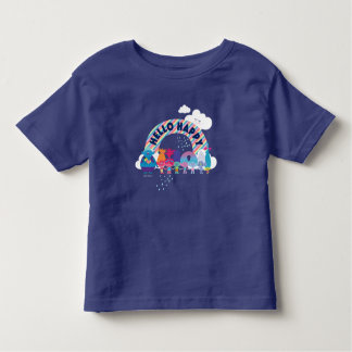 Camiseta Infantil Arco-íris feliz dos troll |