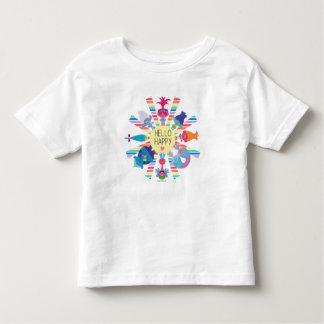 Camiseta Infantil Arco-íris Sun do bloco do petisco dos troll |