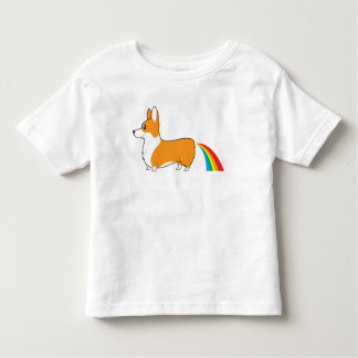 Camiseta Infantil Arcos-íris do tombadilho dos Corgis