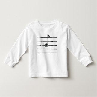 Camiseta Infantil Arte da nota da música