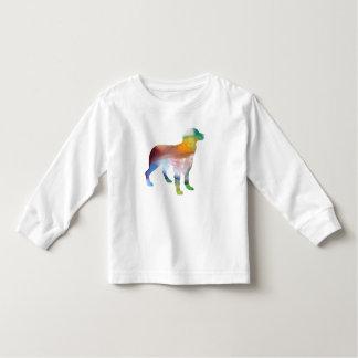 Camiseta Infantil Arte do cão de Brittany