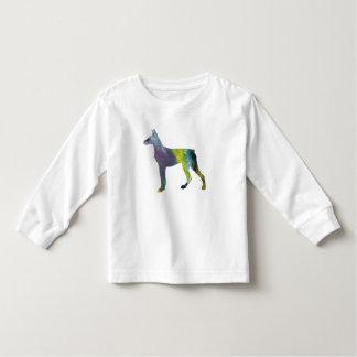 Camiseta Infantil Arte do Pinscher do Doberman