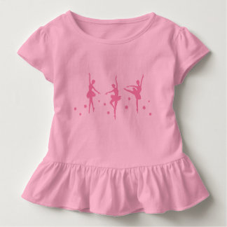 Camiseta Infantil As bailarinas pequenas Ruffled o t-shirt da