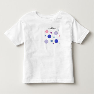 Camiseta Infantil As bolhas coloridas projetam, cores pastel nos