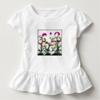 Camiseta Infantil As curvas magentas e os redemoinhos contornaram a