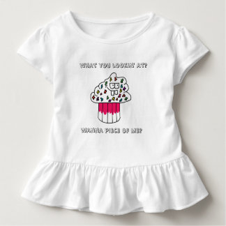 Camiseta Infantil As meninas irritadiços do cupcake Ruffled o Tshirt