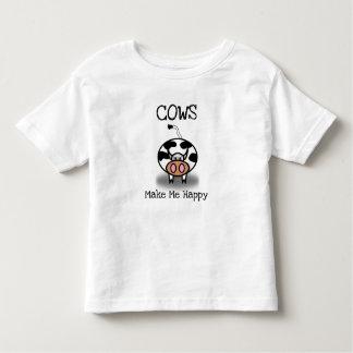 Camiseta Infantil As vacas fazem-me feliz