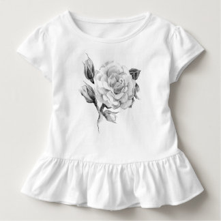 Camiseta Infantil Aumentou. Imagem rústica à moda floral elegante do