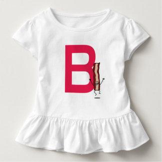 Camiseta Infantil B é para a letra de salto feliz do ABC da tira do