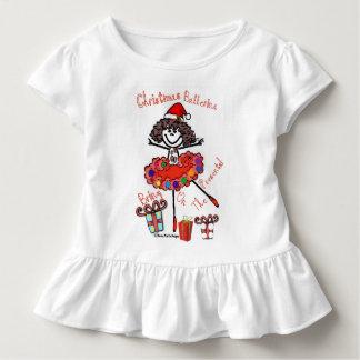 Camiseta Infantil Bailarina do Natal - traga nos presentes!