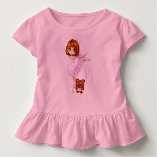 Camiseta Infantil Bailarina e urso de ursinho