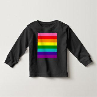 Camiseta Infantil Bandeira das listras do original 8 do orgulho gay