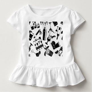 Camiseta Infantil Bar preto do cocktail do teste padrão