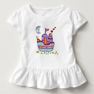 Camiseta Infantil barco na noite