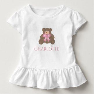 Camiseta Infantil Bebé doce do urso de ursinho da fita bonito do