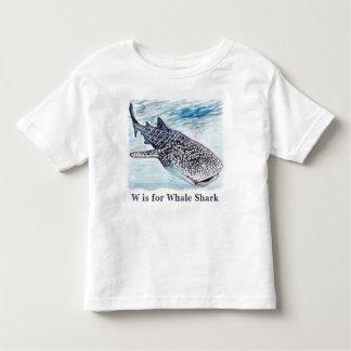 Camiseta Infantil Bebê dos trabalhos de arte do tubarão de baleia e