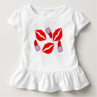 Camiseta Infantil beijos e batons