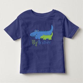Camiseta Infantil Big brother azul e verde do jacaré