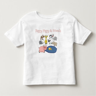 Camiseta Infantil Biggy leitão e amigos!