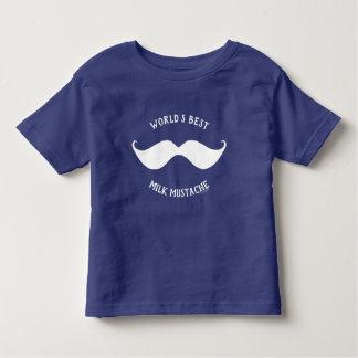 Camiseta Infantil Bigode do leite do mundo o melhor engraçado