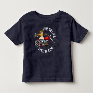 Camiseta Infantil biker motard ride to live