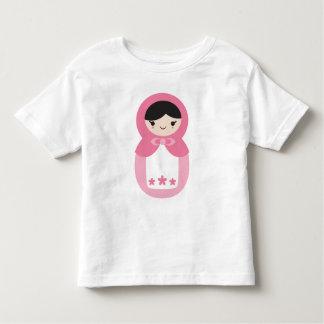 Camiseta Infantil Boneca cor-de-rosa de Matryoshka