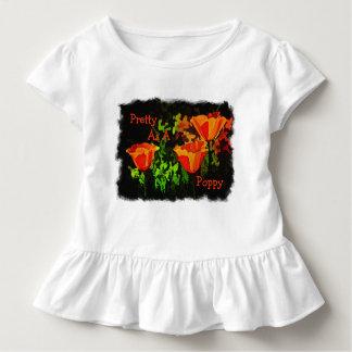 Camiseta Infantil Bonito como uma papoila