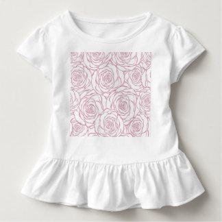 Camiseta Infantil bonito, floral.pink, branco, peônias, femininos,