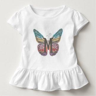 Camiseta Infantil Borboleta com letra M