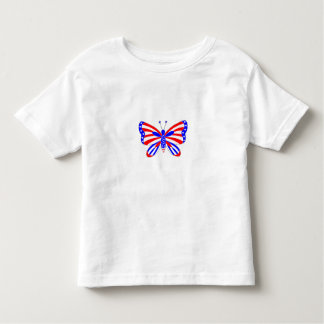 Camiseta Infantil Borboleta patriótica