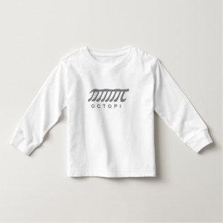 Camiseta Infantil Branco e cinza engraçados do nerd da matemática