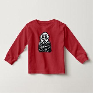 """Camiseta Infantil """"Buddha Pray"""" o t-shirt longo da luva da criança"""