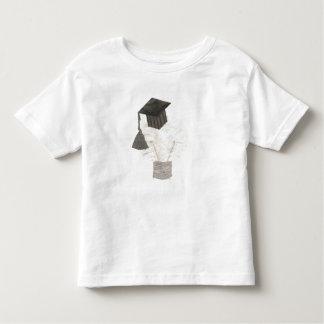 Camiseta Infantil Bulbo do formando nenhum t-shirt da criança do