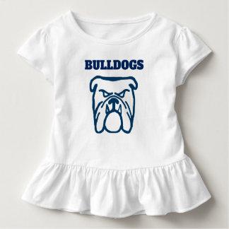 Camiseta Infantil Buldogue azul