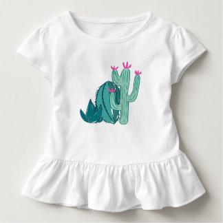 Camiseta Infantil Cacto bonito do rosa e do verde