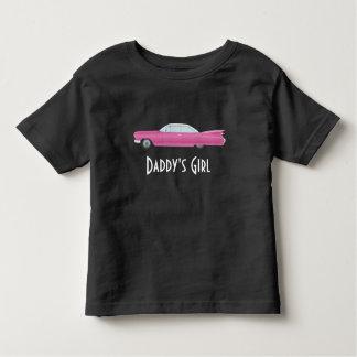 Camiseta Infantil Cadillac customizável do rosa do vintage