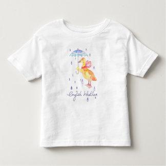"""Camiseta Infantil """"Camisa fina do jérsei t do bebê inglês do tempo"""""""