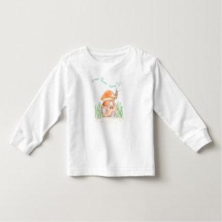 """Camiseta Infantil """"Camisa longa da luva T"""" da criança Home doce Home"""