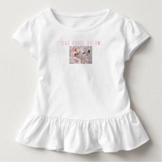 Camiseta Infantil Cante a dança o T ideal do plissado da criança