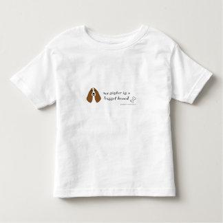 Camiseta Infantil cão de basset
