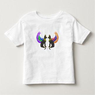 Camiseta Infantil cão egípcio com asas