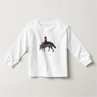 Camiseta Infantil Capa de equitação vermelha