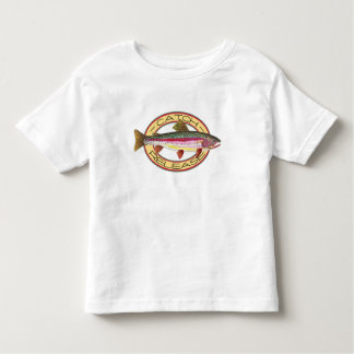Camiseta Infantil Captura da truta & pescador pequeno da liberação