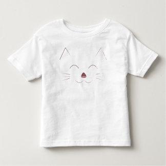 Camiseta Infantil Cara bonito do gato - rosa