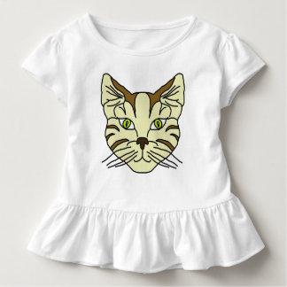 Camiseta Infantil Cara do gato