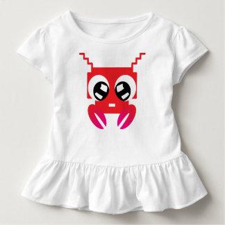 Camiseta Infantil Caranguejo vermelho bonito