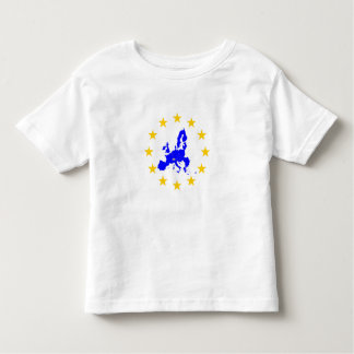 Camiseta Infantil Cartão da união Européia com círculo de estrela
