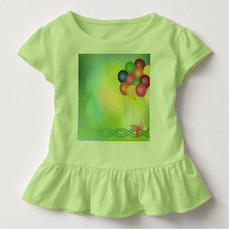 Camiseta Infantil Cartão do borrão com balões