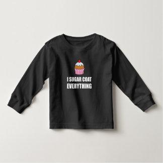 Camiseta Infantil Casaco do açúcar tudo cupcake