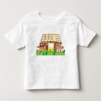 Camiseta Infantil Casal do pão-de-espécie nenhum t-shirt da criança